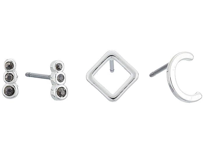 Lucky Brand  C Earrings Set (Silver) Jewelry Sets