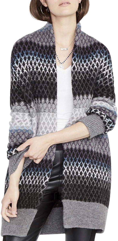 Rachel Rachel Roy Womens Diamond Open Front Cardigan Sweater
