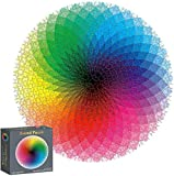 AOZBZ Unique Jigsaw Puzzles for Adults, 1000 Piece Gradient Color Round Jigsaw Rainbow Puzzles Educational Intellectual Game Difficult and Challenge for Kids Adult,10, 11, 12 and Ages Up