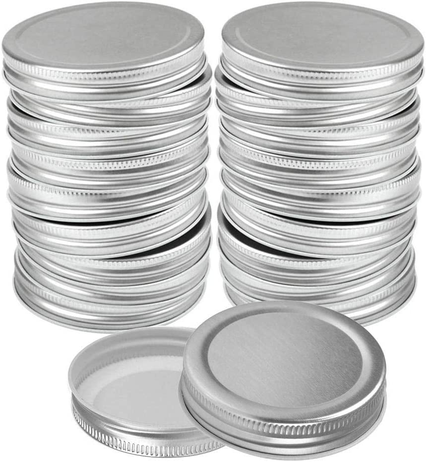 12pack Canning Lids Bombing free shipping Regular Mouth Silver Mason Inventory cleanup selling sale Jar