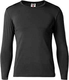 Men's Thermal Underwear Tops Fleece Lined Base Layer Long Sleeve Shirts M09