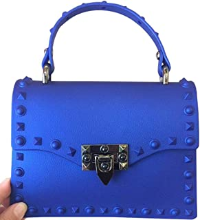 Designer Rivet Top Handle Crossbody Bags Fashion Tote Clutch Purse Jelly Handbags for Women
