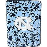 College Covers NCAA Rachel Throw Blanket, 63' x 86', North Carolina Tar Heels,NCUTH