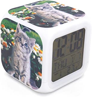 CUTE KITTY CAT KITTEN and LABRADOR PUPPY TIME WALL CLOCK ROOM HOME HOUSE DECOR