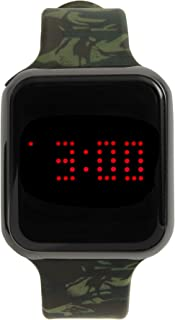 Unisex Digital Watch LED Screen Large Face Silicone Band with Scrolling Message and Alarm Settings - (White/Rosegold Dial) - 8231