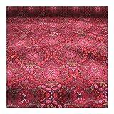 Stoff Polyester Samt pink Ornament lila weich anschmiegsam