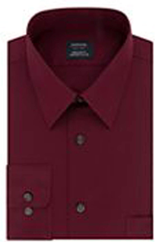 Arrow Men Dress Shirt Stretch Fabric Wrinkle Free Slim Fit Poppy Size: 15-15 1/2 34-35