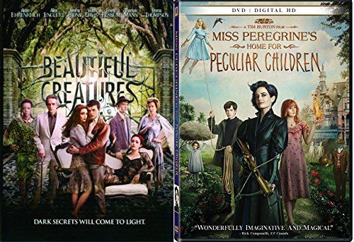 Dark Secrets Beautiful Creatures + Miss Peregrine's Home for Peculiar Children DVD Fantasy Movie collection