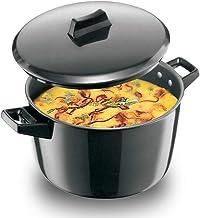 Futura Hawkins Hard Anodised Cook n Serve Stewpot With LID, 5 Litres, Black, L65