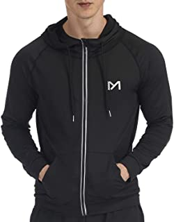 Sponsored Ad - Running Jacket for Men, Long Sleeve Shirt Hooded Track Top Reflective Full Zip Sports Fitness Workout Gym A...