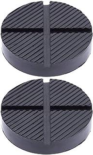 Garneck 2 peças de almofada de borracha universal para encaixe de piso, moldura com ranhura automática, adaptador de plugu...