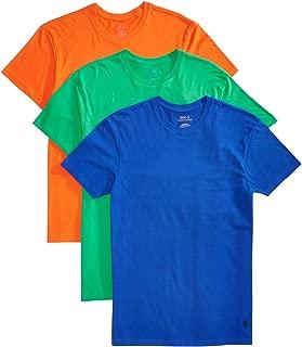 Ralph Lauren Polo Men's 3-Pk Classic Crew-Neck Shirts Dusk Orange/Flag Green/Rugby Royal XL