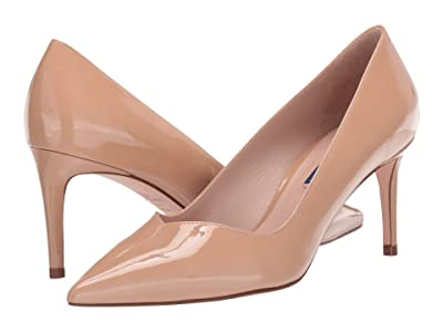 Stuart Weitzman Anny 70mm Pointy Toe Pump (Adobe Patent) Women