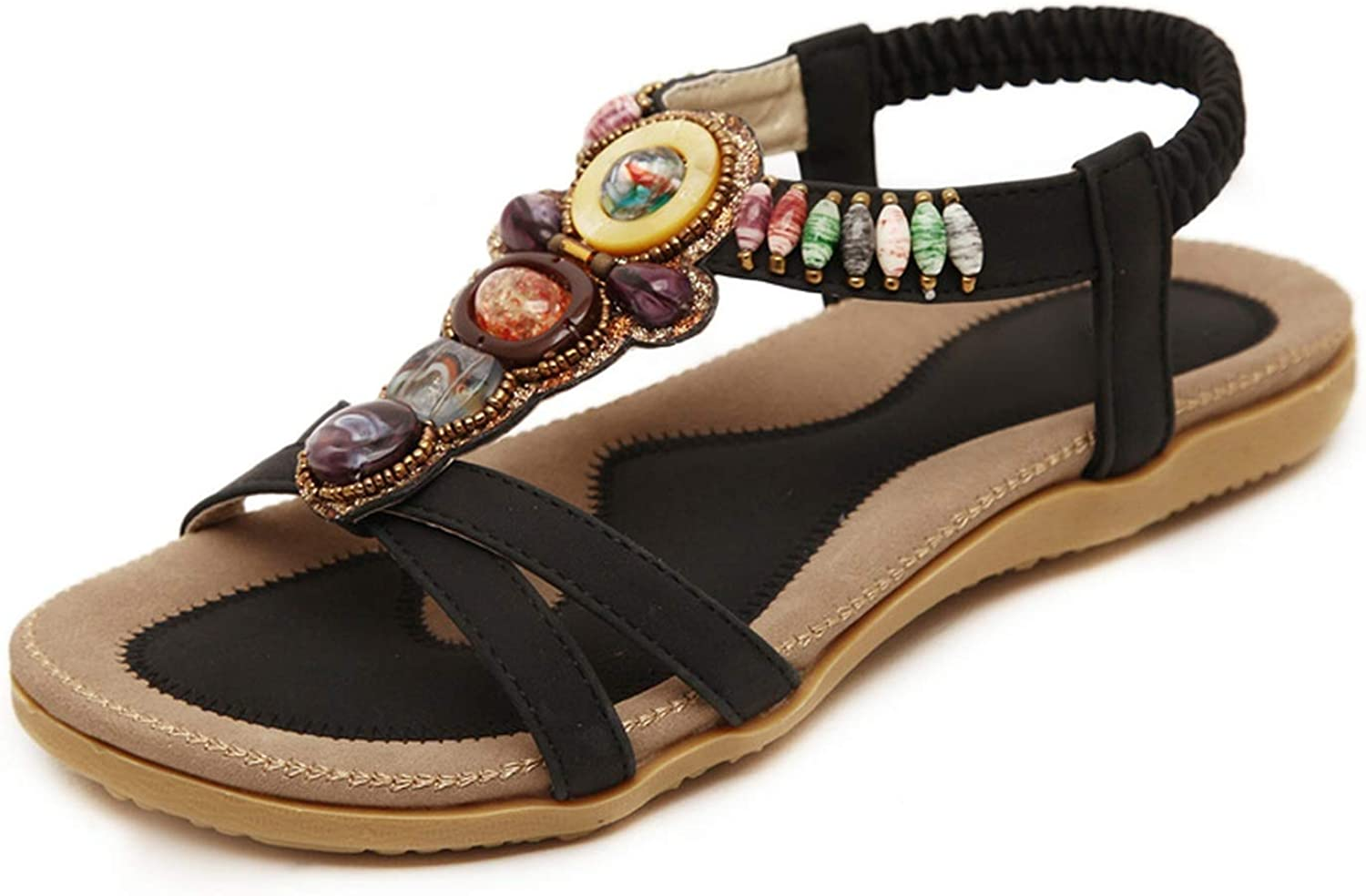 shoes Woman Sandals Bohemia Agate Beads Prom shoes Ethnic Style Summer shoes