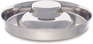 King International Stainless Steel Dog Bowl 1 Puppy Litter Food Feeding Weaning Silver Stainless Dog Bowl Dish Large Dogs,...