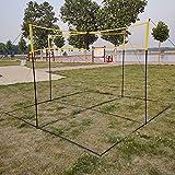 LBYDXD Playa Red De Voleibol, Conjunto de Red de Voleibol portátil al Aire Libre, último Patio Trasero y Juego de Playa para niños y Adultos, Material de PE (Size : 1X0.3M)