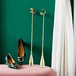 XDXDO Métal Long Shoe Horn, 59cm Unique Minimaliste Style Design Longue poignée Longue poignée de Chausse-croûte,Cat