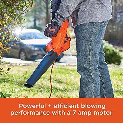 BLACK+DECKER Electric Leaf Blower, 7-Amp (LB700)