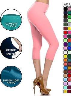 2b517342ca7cc9 Leggings Depot High Waisted Capri Leggings - Soft & Slim - 37+ Colors