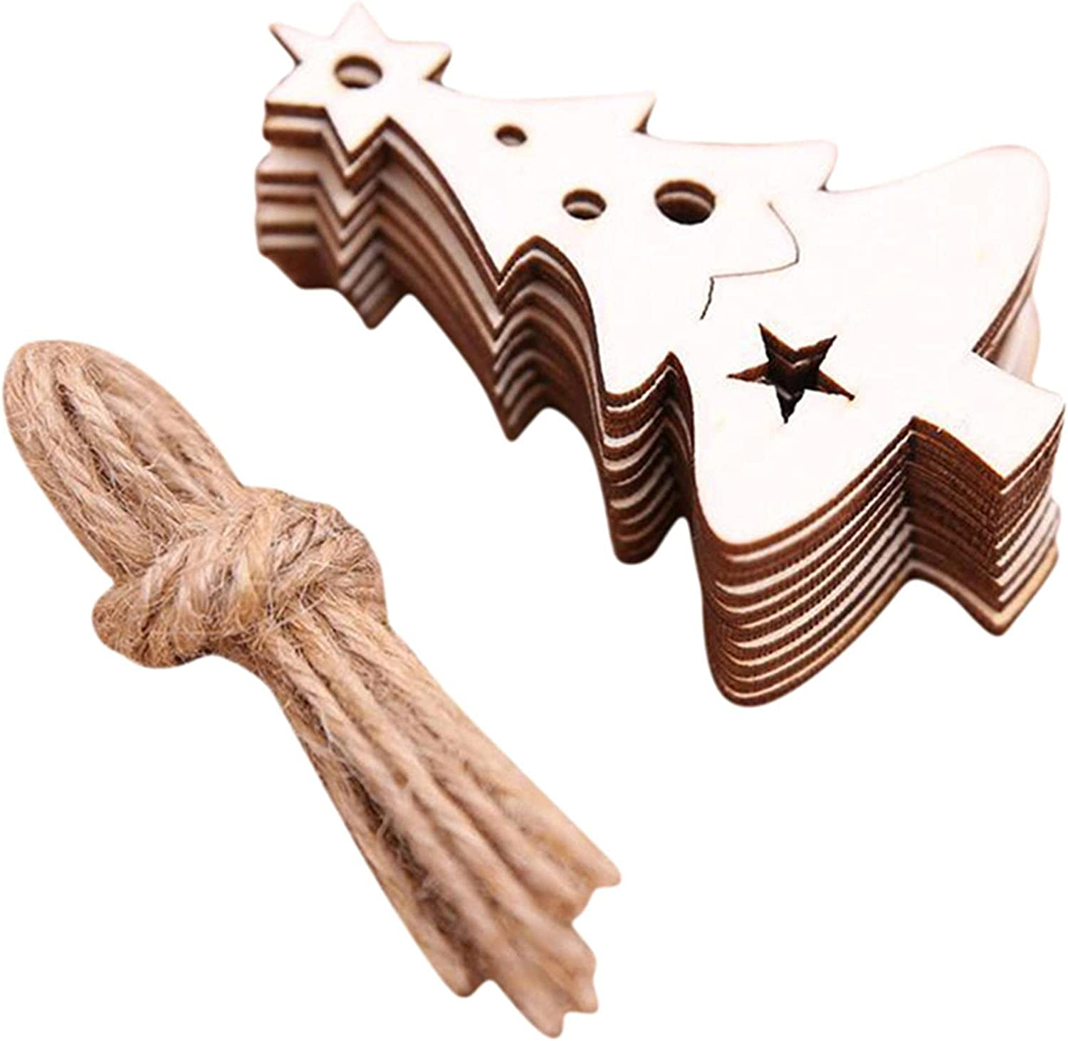 Meoliny 10 Pieces Excellent Set Wooden Crafts Party Deco Popular Pendent Christmas