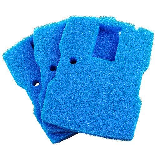 Yorbay 3er Set Filterschaum in Blau 30 x 22.5 x 3.7 cm Filterschwamm für CUF-6000 4 in 1 Teichpumpe (Mehrweg)
