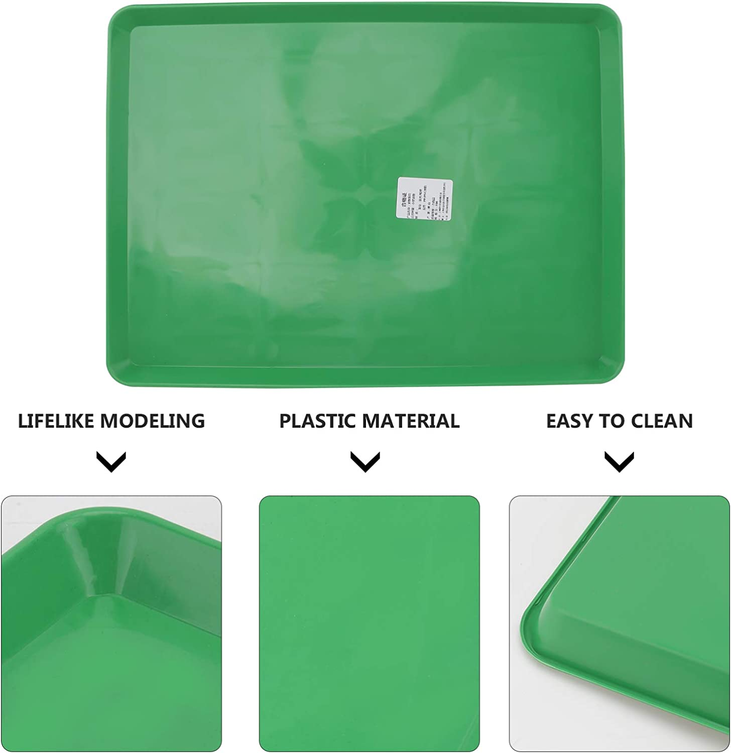 POPETPOP Replacement Pan for Dog Crate Plastic Dog Cage Tray Bottom for Pet Cages Crates Kennels Dogs Cat Rabbit Ferret Critter Green S