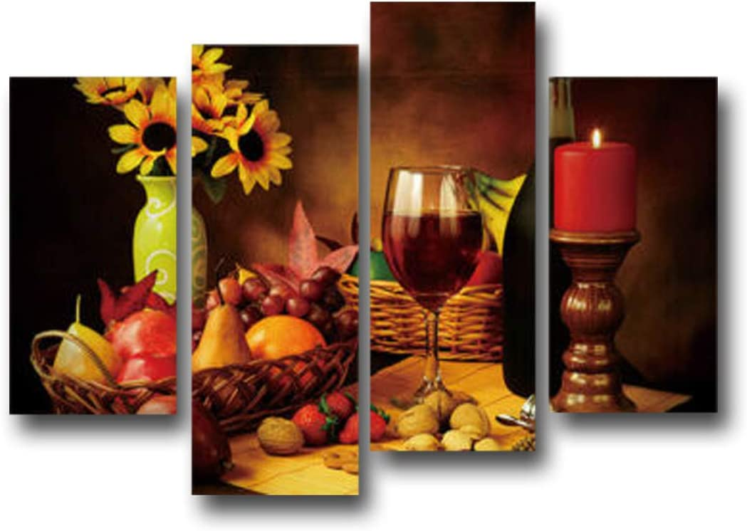 Super beauty Direct sale of manufacturer product restock quality top Fruits and Red Wine Canvas Painting Picture Dini Wall Poster Art