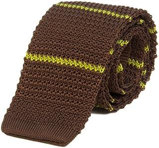 40 Colori - Cravatta a maglia a righe sottili in pura seta
