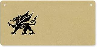 Azeeda 'Welsh Dragon' Wooden Wall Plaque / Door Sign (DP00006306)