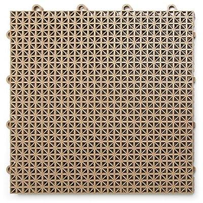 DuraGrid DT40BEIG Outdoor Modular Interlocking Multi-Use Deck Tile, 40 Pack, Beige, Piece