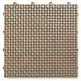 Big Floors DT24BEIG DuraGrid Outdoor Modular Interlocking Multi-Use Deck Tile, 24 Pack, Beige