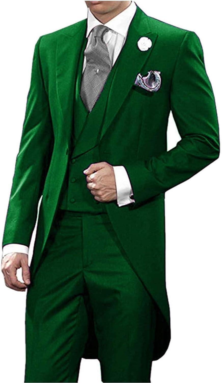 Quantity limited High material Men's 3 Pieces Suit Slim Fit Dinner Tailcoat for Men Blazer Jack