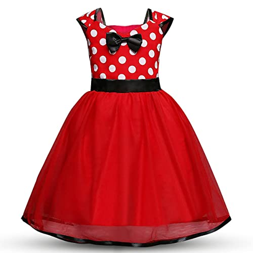 0d1f74a71ad3b Yep Toddler Girls' Polka Dot Princess Party Cosplay Pageant Fancy Costume  Bowknot Ballet