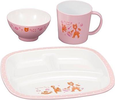 カノー 子ども用食器セット ピンク 23.5×23.5×2cm 森の詩 キッズセット S2 3点入