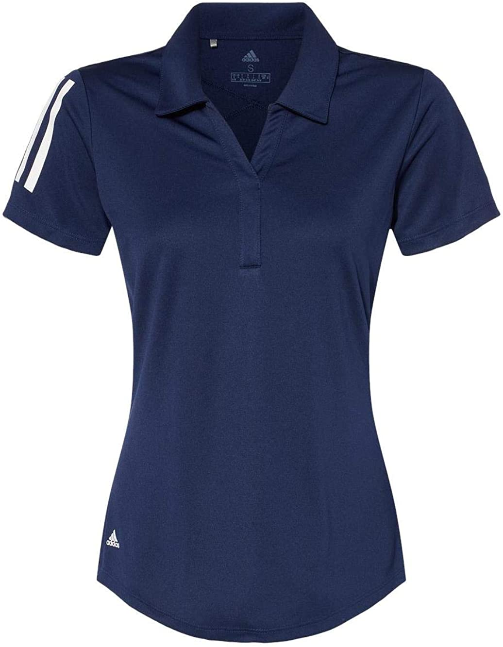 adidas - Women's Floating 3-Stripes Sport Shirt - A481 - S - Team Navy Blue/White