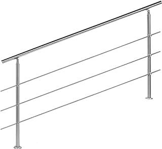 Barandilla acero inox 3 varillas 180cm Pasamanos escalera Parapeto
