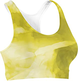 Rainbow Rules Colored Abstract Watercolor Sports Bra
