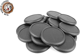 War World Gaming 50mm Round Plastic Bases with Lip (Choose Quantity) – 28mm Wargames Wargaming Stand Terrain Miniatures Fi...