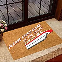 ドアマット屋内玄関ドアから離れて立ってください玄関マットおかしいウェルカムマット外玄関カーペット洗える玄関マット家の装飾新築祝いギフト60x90cm