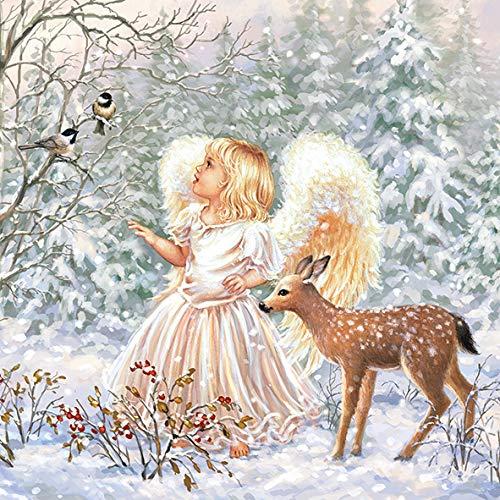 20 Servietten Christkind Engel Weihnachten Reh 33 x 33