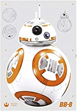 "Komar Deco Star Wars BB-8"", 1 stuk, geel/wit, 14726h, sticker, muursticker, muurbevestiging, kleurrijk, 100 x 70 cm"
