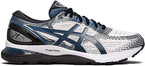 ASICS Men's Gel-Nimbus 21 Running Shoes, 10.5M, White/DEEP Sapphire