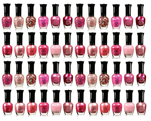 Awesome Pink Colors Assorted Nail Polish 12pc Set - 4 SETS