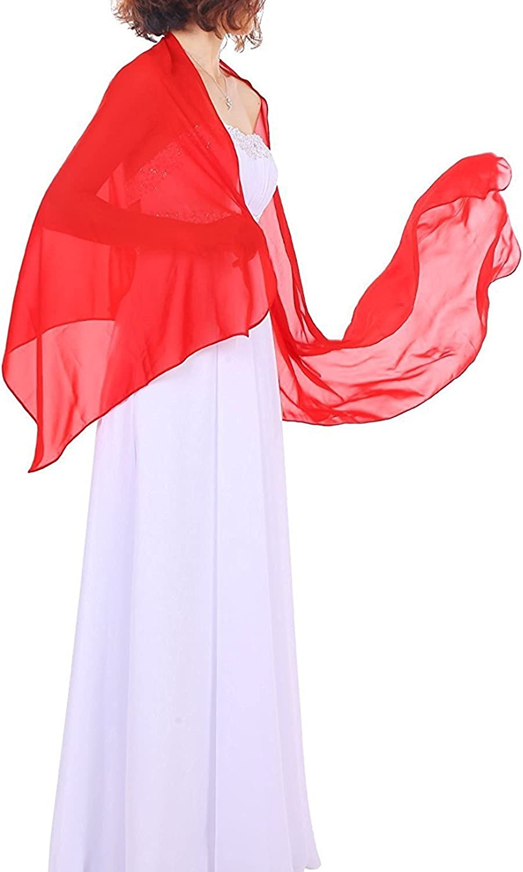 Dressystar Chiffon Stola Schal für Kleider in verschiedenen Farben Orange