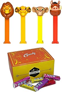 PEZ Lion King Candy Dispensers, Candy Refill, and Gift Box Set: Simba, Mufasa, Nala, and Pumba - 4 Dispensers and 6 PEZ Candy Refills in a Candy Gift Box