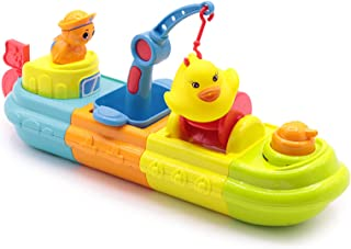 Baby Bath Toys, Fun Kids Bathtub Toys for Girls and Boys, Multiple Combinations Wind Up Toy Boat, Water Play Spray Toys fo...