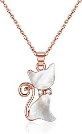 Mestige Rose Gold Whiskers Necklace with Swarovski® Crystals, Gift, Cat Lover
