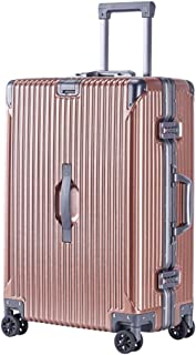 GLJJQMY Luggage Box Aluminum Frame Trolley Case Male and Female Suitcase Universal Wheel Business Boarding Computer Suitcase Trolley case (Color : Gold, Size : 20 inch)