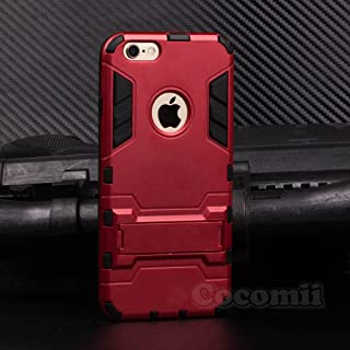 Cocomii Iron Man Armor iPhone 6S Plus/6 Plus Case New [Heavy Duty] Premium Tactical Grip Kickstand Shockproof Bumper [Military Defender] Full Body Rugged Cover for Apple iPhone 6S Plus/6 Plus (I.Red)