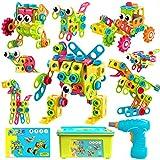 ATCRINICT Spielzeug Baue Bausteine Lernspielzeug Baukasten mit 191 Stück,STEM Educational Konstruktionsspielzeug Kreativ Spielzeug,Bauen Spielzeug Pädagogische 3-10 Jahre Jungen und Mädchen